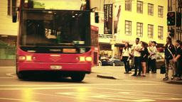 Sydney George Street 70s old film stylized 04 Stock Video Footage