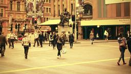 Sydney George Street 70s old film stylized 08 Footage