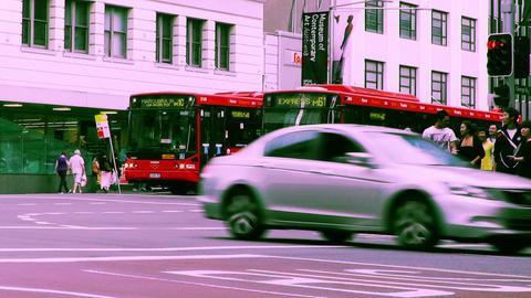 Sydney George Street 70s old film stylized 10 Footage