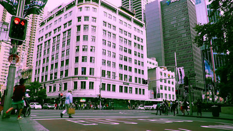 Sydney George Street 70s old film stylized 12 Stock Video Footage