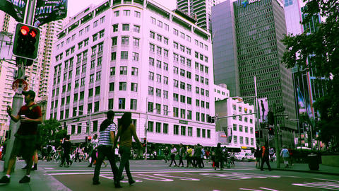 Sydney George Street 70s old film stylized 12 Stock Video Footage
