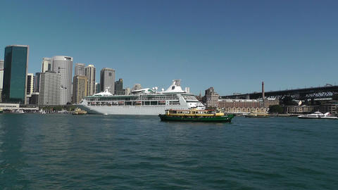 Sydney Harbour and Circular Quay Port 01 Footage
