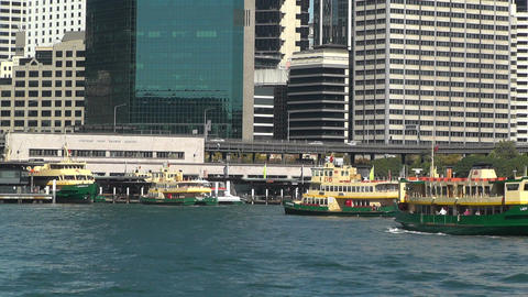 Sydney Harbour and Circular Quay Port 03 Stock Video Footage