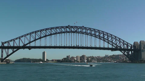Sydney Harbour Bridge 01 Stock Video Footage