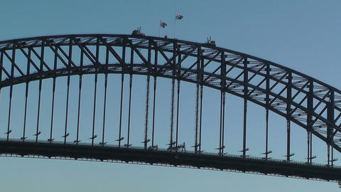 Sydney Harbour Bridge 03 Stock Video Footage