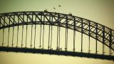 Sydney Harbour Bridge 70s old film stylized 04 Footage