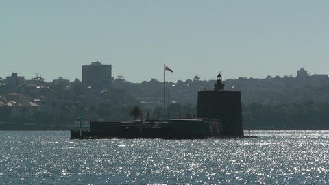 Sydney Harbour Fort Denison 01 Stock Video Footage