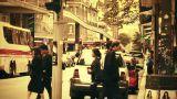 Sydney Liverpool Street 70s old film stylized Footage