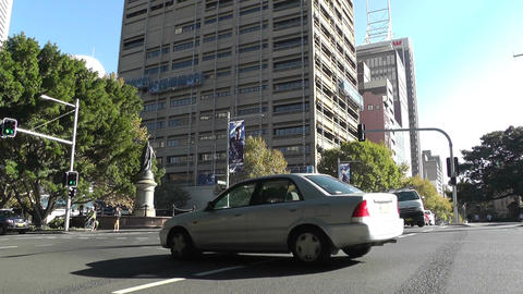 Sydney Macquaire Street Prince Albert Road traffic Stock Video Footage