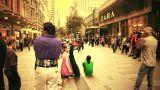 Sydney Pitt Street 70s old film stylized Footage