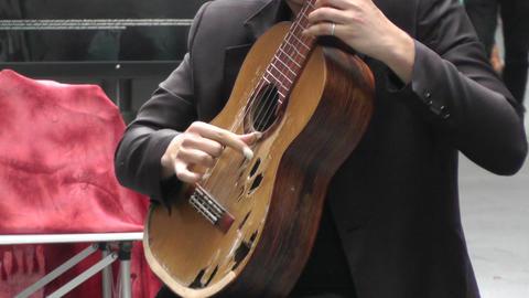 Sydney Pitt Street Musician 02 Stock Video Footage