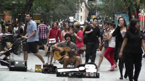 Sydney Pitt Street Musician 05 Stock Video Footage