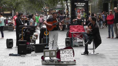 Sydney Pitt Street Musicians Tom Ward 03 Stock Video Footage