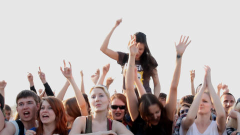 people at the concert Stock Video Footage