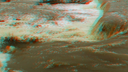 Stereoscopic 3D waterfall in a river 7 Stock Video Footage