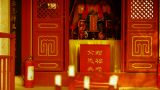 Taoist statues Buddha in door,Burning incense in Incense burner,Wind of smoke Footage
