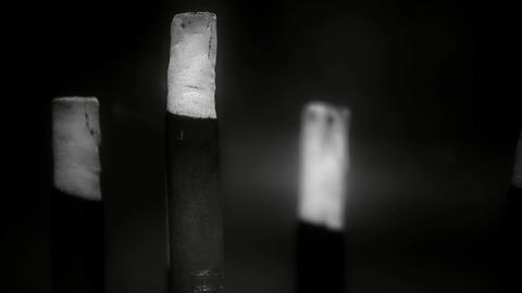 Smoke-filled burning incense,In temple,Soot,black and... Stock Video Footage