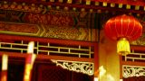 Chinese garden courtyard,red lantern,Burning incense in Incense burner,Wind of s Footage