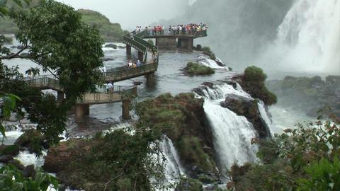 Brazil: Iquazu Falls, Devil's Throat 3 Stock Video Footage