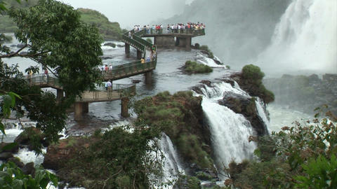 Brazil: Iquazu Falls, Devil's Throat 3 Stock Video Footage