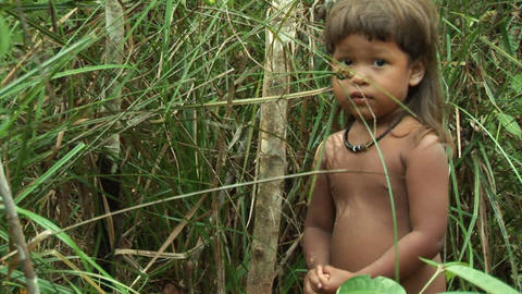 Brazil: people of Amazon river region 1 Stock Video Footage