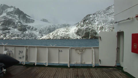 South Georgia: travel on expedition ship 1 Stock Video Footage