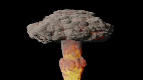 Atomic Explosion Flash + Alpha. CG. HD. V2 Stock Video Footage