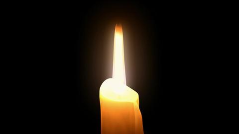 Candle Burning Loop. CG. HD Animation