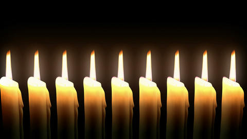 Candle Line Loop. CG. HD Stock Video Footage