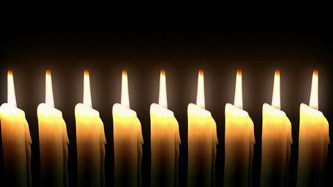 Candle Line Loop. CG. HD Stock Video Footage