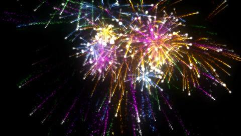 Fireworks. CGI. HD Stock Video Footage