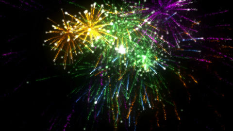 Fireworks. CGI. HD Stock Video Footage