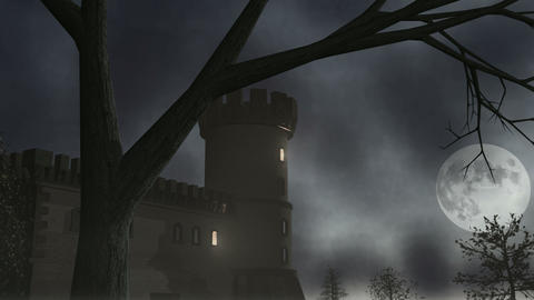Haunted House w/ Lightning 1 CGI-HD Animation