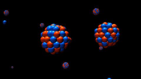 Nuclear Chain Reaction Closeup. CGI-HD Stock Video Footage