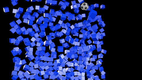 Soccerball Wall Zero Gravity CGI-HD Animation