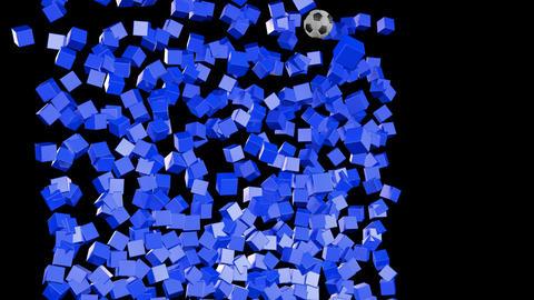 Soccerball Wall Zero Gravity CGI-HD Stock Video Footage