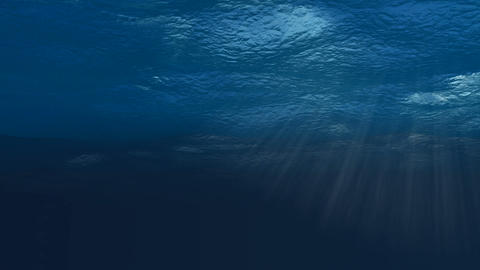 Underwater Loop. CG. HD Animation