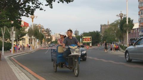 Heihe Evening Street Traffic 04 Live Action