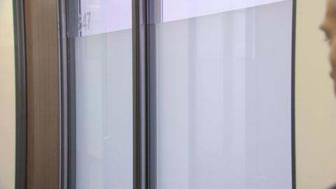 Businessmen meeting in corridor Stock Video Footage