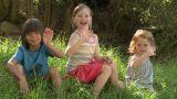 Children waving at camera Footage