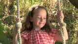 Girl on a swing Footage