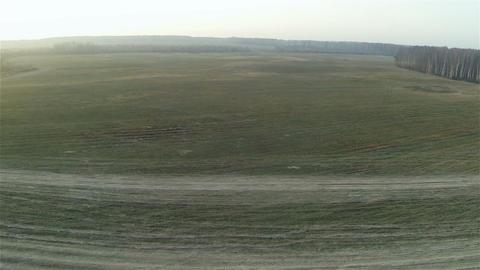 001 Aerial rural field country side road Footage