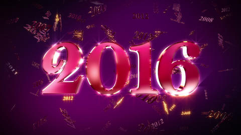 New Year 2016 Background Loopable Animation Animation