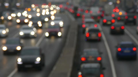 The Flow Of Cars In The City ( Soft Focuse) stock footage