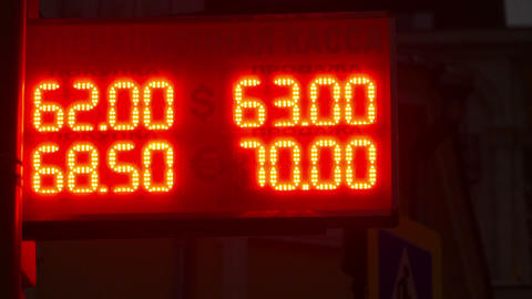 The exchange rate against the ruble in October 2015 Footage
