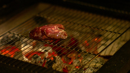 Meat On The Grill For Burgers stock footage