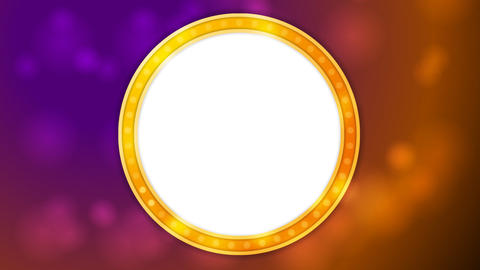 Retro shiny light circle banner video animation Animation