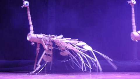 HANOI VIETNAM OCTOBER 10 2015 :Puppet show in The 4th international marionett Footage