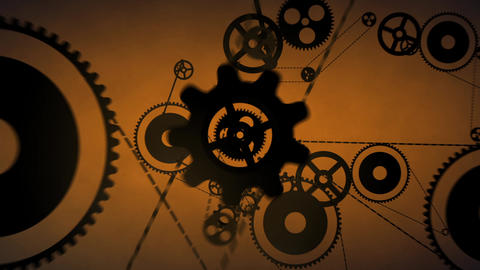Gears And Pinions Transition stock footage