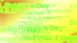 St. Patrick's animated text backdrop Animation